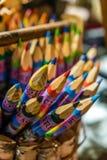Creyones coloridos del recuerdo en venta Imagenes de archivo