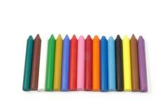Creyones de cera coloridos Fotos de archivo libres de regalías