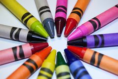 Creyones del colorante Imagen de archivo