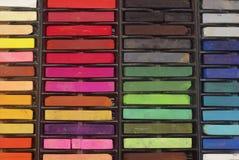 Creyones en colores pastel Fotografía de archivo