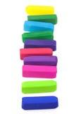 Creyones en colores pastel coloreados Imágenes de archivo libres de regalías