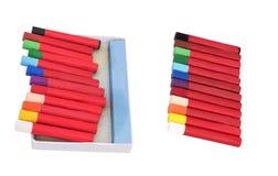 Creyones multicolores Fotografía de archivo libre de regalías