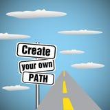 Créez votre propre chemin Photo libre de droits