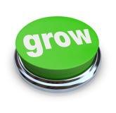 Crezca el botón - verde Fotos de archivo
