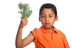 Crezca los músculos grandes que comen su bróculi Fotografía de archivo libre de regalías