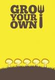 Crezca sus propios poster_Mushrooms stock de ilustración
