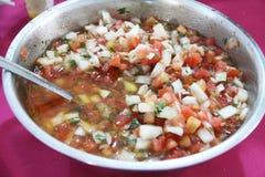 Vinaigrette tomato onion recipe sauce food detail healthful Sao Paulo Brazil. Vinaigrette tomato onion recipe sauce food detail healthful Sao Paulo Brazi stock photography