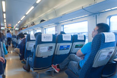 CRH fast train crh1 Interior Stock Image