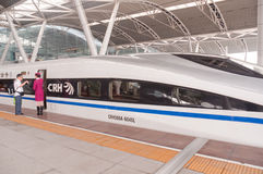 CRH fast train CRH380A at station Stock Photography