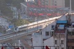 Crh1 train at city Stock Photography