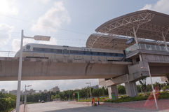 CRH1 train at Tangjiawan Station Royalty Free Stock Photography