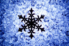 Crhistmas snowflake star symbol Royalty Free Stock Photos