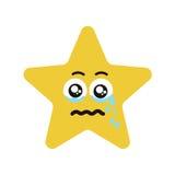 Cri émotif d'étoile de visage illustration stock