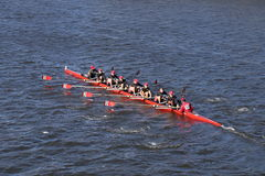 CRI Crew races in the Head of Charles Regatta Men`s Youth Eights Stock Photography
