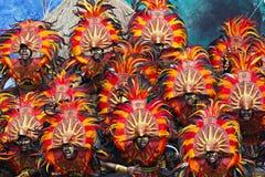 Cri de festival de Dinagyang Photos stock