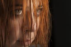 Cri de fille de beauté Photographie stock libre de droits