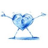 Cri de profondeur de coeur Ensemble de coeur du ` s de caractère illustration de vecteur