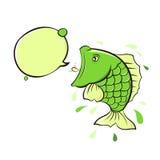 cri des poissons illustration de vecteur