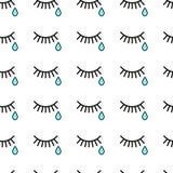 cri larmes et cils Photo libre de droits