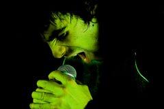 Cri perçant dans le microphone Image libre de droits