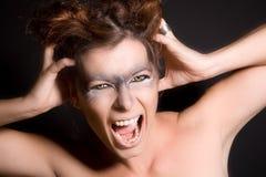 Cri perçant de loup-garou image libre de droits