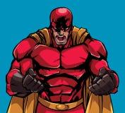 Cri perçant faisant rage de super héros illustration libre de droits