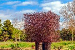 Criação abstrata metálica no parque fotografia de stock royalty free