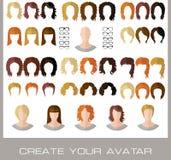 Criação de avatars de uma fêmea da forma Fotografia de Stock