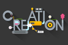 A criação de ideias criativas Processo creativo Produção, planta e criação, invenção e solução do desenvolvimento Fotos de Stock