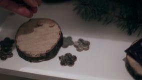 Criação de uma composição de madeira filme