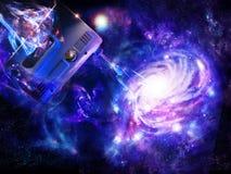 Criação de uma galáxia espiral ilustração royalty free