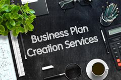 A criação do plano de negócios presta serviços de manutenção ao conceito 3d rendem Imagens de Stock Royalty Free