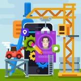 Criação e projeto do Web site Imagem de Stock
