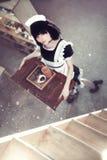 Criada linda Foto de archivo libre de regalías