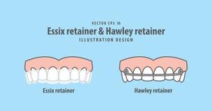 Criado de Essix y vector del ejemplo del criado de Hawley en el CCB azul libre illustration