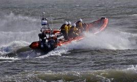 Criado Lifeboat de Mudeford en Christchurch fotografía de archivo libre de regalías