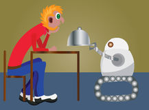 Criados 2 del robot stock de ilustración
