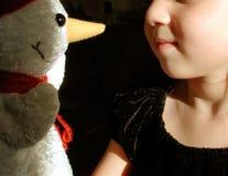 Criança & boneco de neve Foto de Stock Royalty Free
