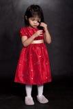 Criança asiática atrativa da criança fotografia de stock
