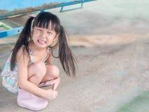Criança asiática do bebê que joga no campo de jogos Foto de Stock Royalty Free