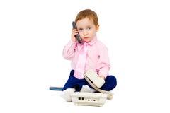 Criança bonita em um terno de negócio Imagem de Stock Royalty Free