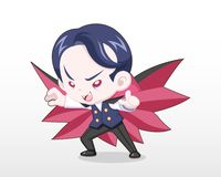Criança bonito do estilo na ilustração do traje do vampiro ilustração stock