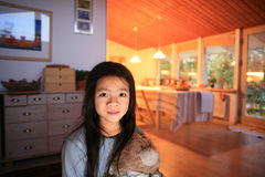 Criança bonito em casa Imagens de Stock Royalty Free
