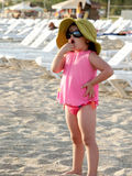 Criança bonito na praia de Antalya Imagens de Stock Royalty Free