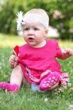 Criança bonito no parque Fotos de Stock