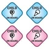 Criança a bordo Imagens de Stock