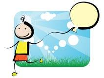Criança com ballon Foto de Stock Royalty Free