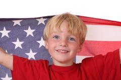 Criança com bandeira dos EUA Imagens de Stock Royalty Free