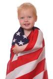 Criança com bandeira dos EUA Fotografia de Stock Royalty Free