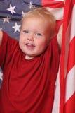 Criança com bandeira dos EUA Imagem de Stock